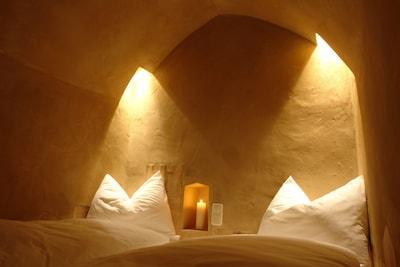 Das Bett in der Ferienwohnung Grafenstubn