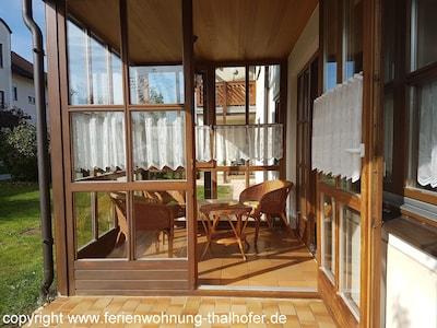 Wintergarten und Terrasse