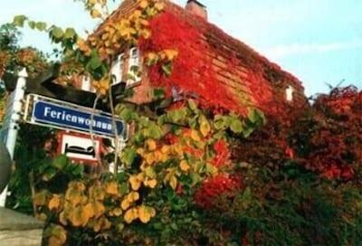 Haupthaus im Herbstlaub