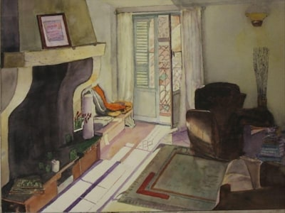 One of our renters captured the feel of the place in watercolour ...