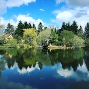 Jezioro Kingfisher, Massignac, Charente, Francja