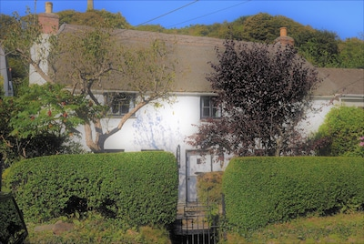 A Thatched Cottage in St Agnes very near the beach, garden, parking for 2 cars.