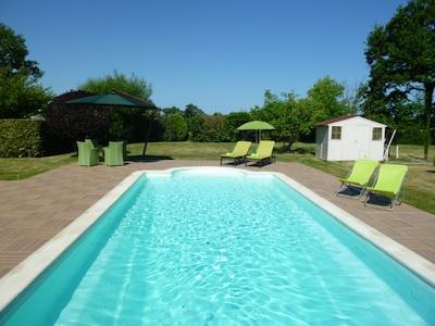 piscine chauffée à 30°