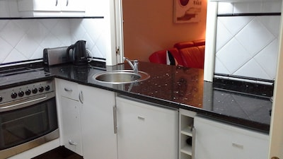 Kitchen with granite survaces