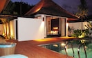 Pool and Master suite at night