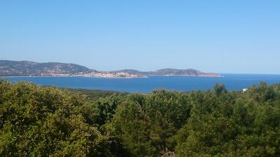 Vue sur la baie de Calvi et sa citadelle