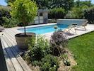 Jardin côté piscine