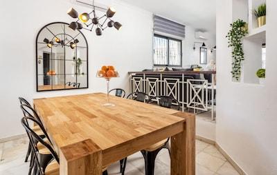 Open plan living-dining room