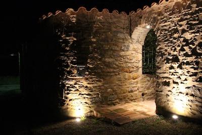 Entrance to La Grange at night time.