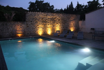 Pool in the early evening