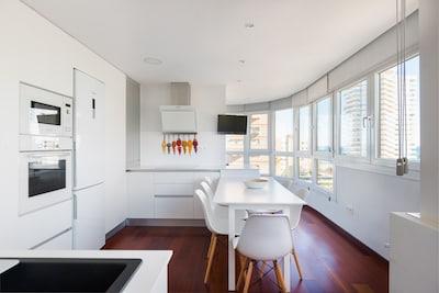 Apartamento moderno y encantador a pasos de la playa, segunda linea.