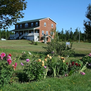Exterior View from flower beds