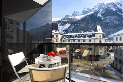Centro comercial Alpina, Chamonix-Mont-Blanc, Alta Saboya (departamento), Francia