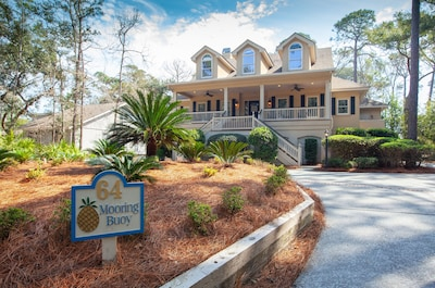 PALMETTO DUNES: LOVELY UPDATED VACATION HOME, 4 BRS + 5TH BR/DEN, 5 FULL BATHS.