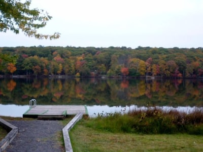 Autumnal Colors - Launch a boat or fish right from the dock at the house.