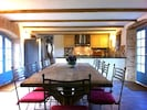 Dining Area for 12 people with views over rear garden and courtyard