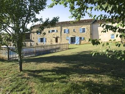La Vieille Ferme across the rear garden