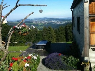 Terrasse mit Blick auf St.Gallen