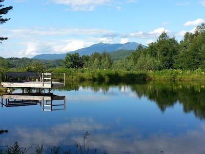 View from Swimming Pond of Mt. Mansfield