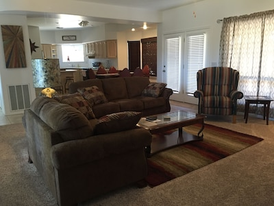 Open Concept Living Room , clean and bright