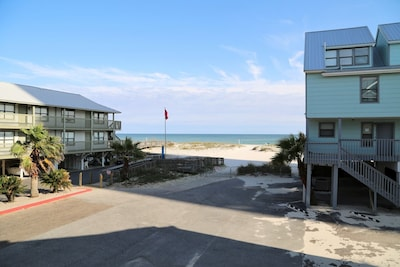Amazing view of the beach & gulf from your private balcony!