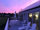 Sunset over our South facing deck.