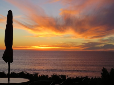 Spectacular sunsets from your private ocean patio
