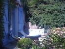 La première terrasse et ses chaises longues, un véritable solarium!