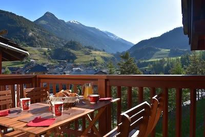 Télésiège de Turra, Val-Cenis, Savoie (département), France