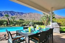 Enjoy an afternoon barbecue in a covered patio or in the warm sunlight