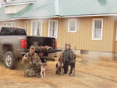 DYI hunting: bow - deer, rifle - pheasants, turkey, duck, geese, quail.