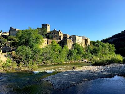 Vue du pont de Montclus