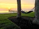 Leisure time on a hammock with a spectacular sunset on Narragansett Bay.