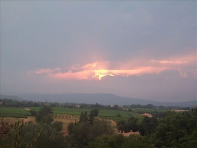 View from bedroom balcony. Spectacular sunsets every evening.
