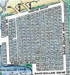 Map Of The Section Of Ocean Lakes That The Houses are In  #1070