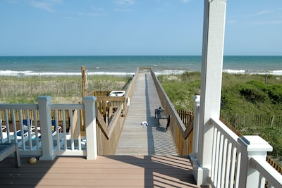 Oceanfront with Private Beach Walkover