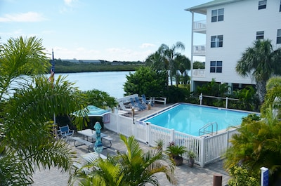 Private Pool area on Intracoastal Waterway