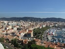 View of Cannes from above Le suquet NB.This is NOT the view from the apartment