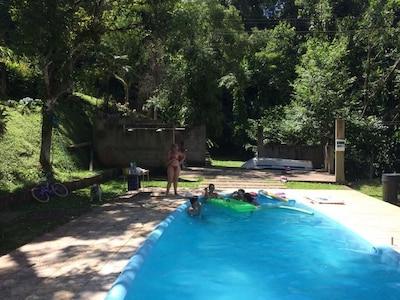 Cascade Cachoeira do Franca, Juquitiba, São Paulo (État), Brésil
