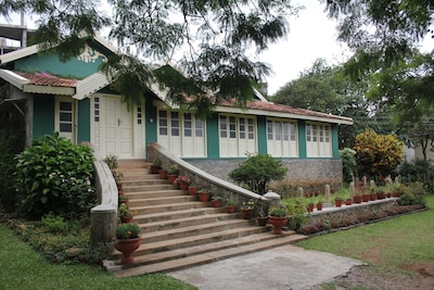 The Entrance and Front view of the Bungalow