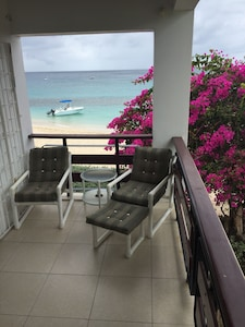 Spectacular view of beach  and sea,. best view on Barbados west coast.