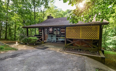 Birds N Bees cabin is only 5 miles from the main strip in Pigeon Forge