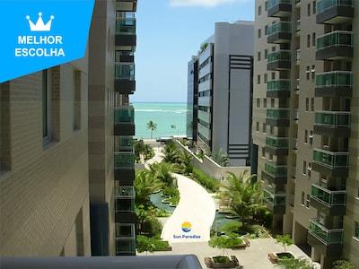 Sun Paradise - Lindo apto 3 quartos beira mar