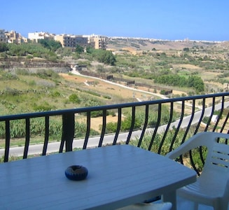 Terrace with amazing views.  You can dine under the star studded sky.