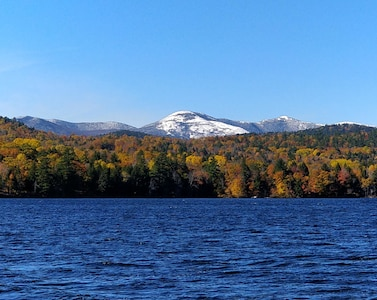 autumn view from the lakeshore