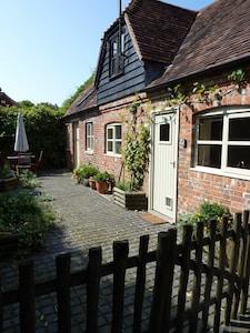 Main entrance into cottage