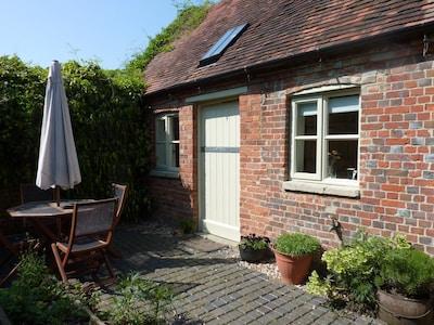 stable bedroom door & courtyard