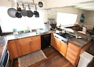 Gourmet kitchen with gas stovetop