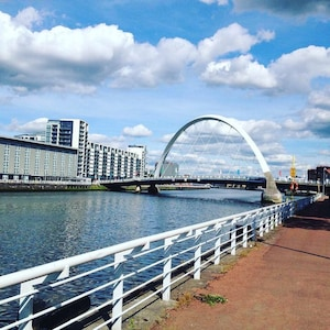 Squinty bridge nearby , close to SECC, the hydro and Clyde Armadillo can walk
