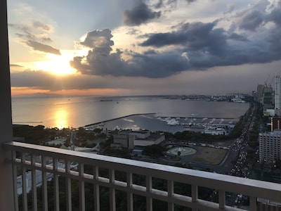 Vie of Manila Bay Sunset from your unit.